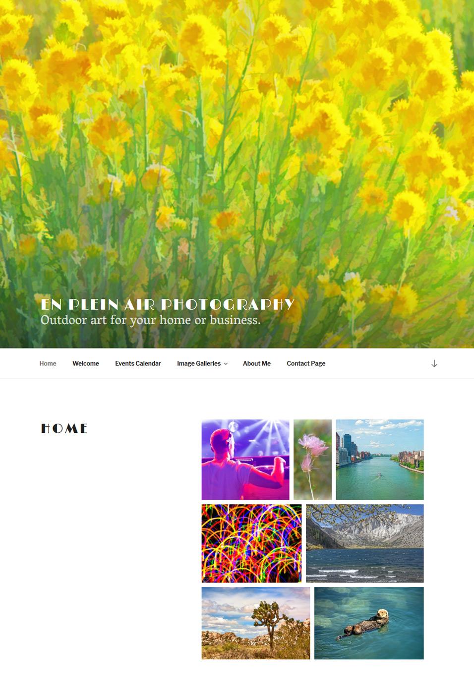 enpleinairphotography.com homepage