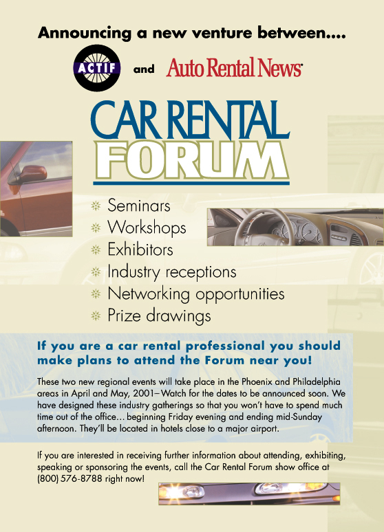Car Rental Forum Ad