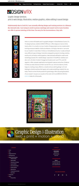 dsignwrx.com homepage Sept 2020