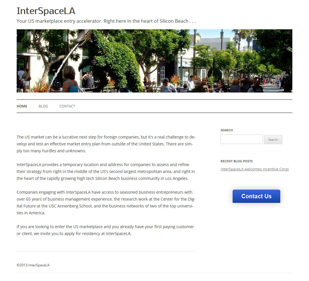InterSpaceLA Web Design and Implementation