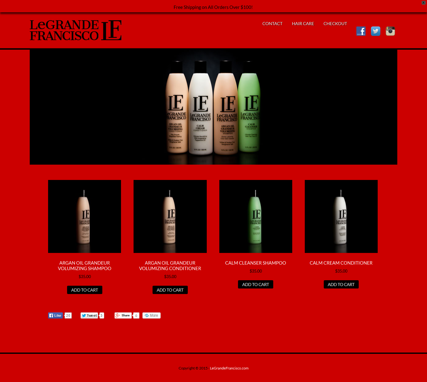 legrandefrancisco.com eCommerce WordPress website