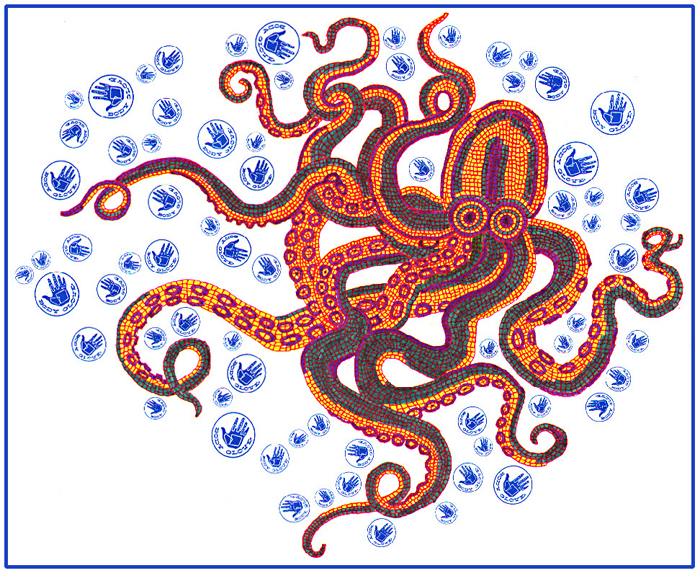 Octopus Mosaic T-Shirt Design