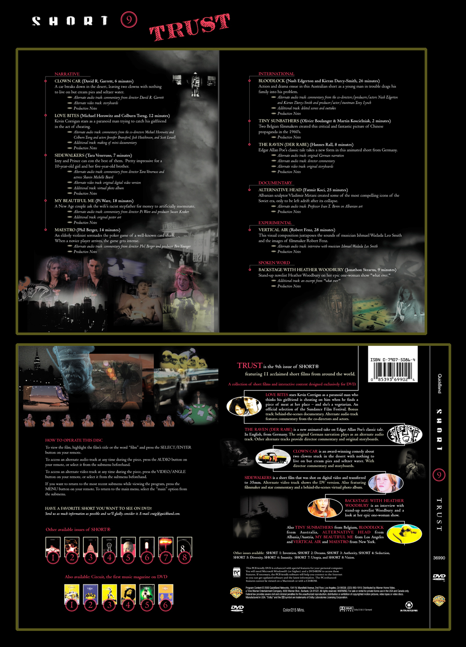 QuickBand Short 9 Trust DVD Package