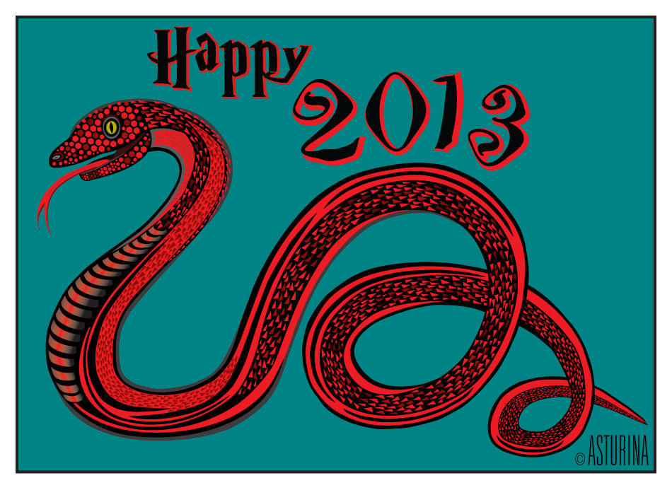Happy New Year 2013 Year of the Snake