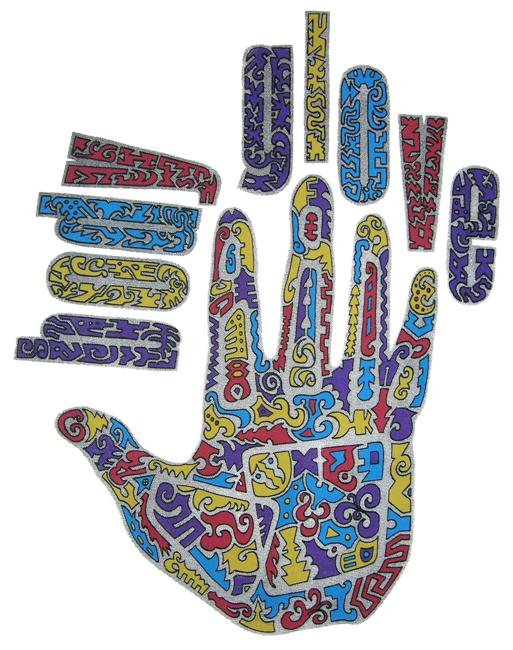 Tribal Hand T-Shirt Design