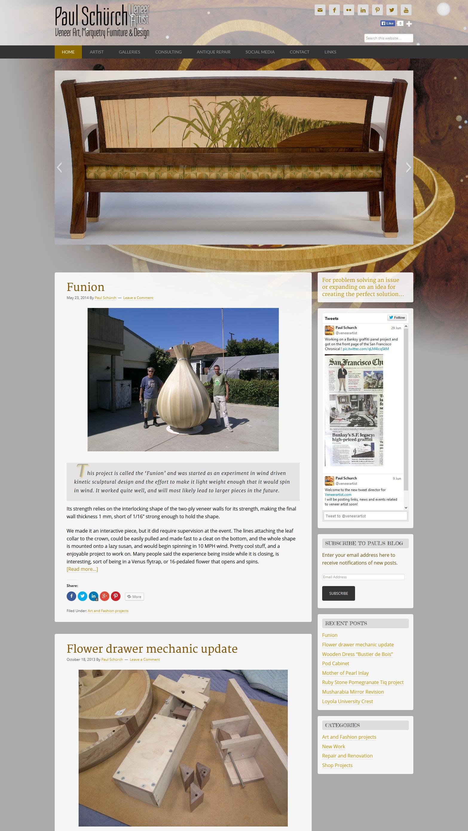 VeneerArtist.com Web Design and Implementation
